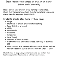 Please Help Prevent the Spread of Covid-19