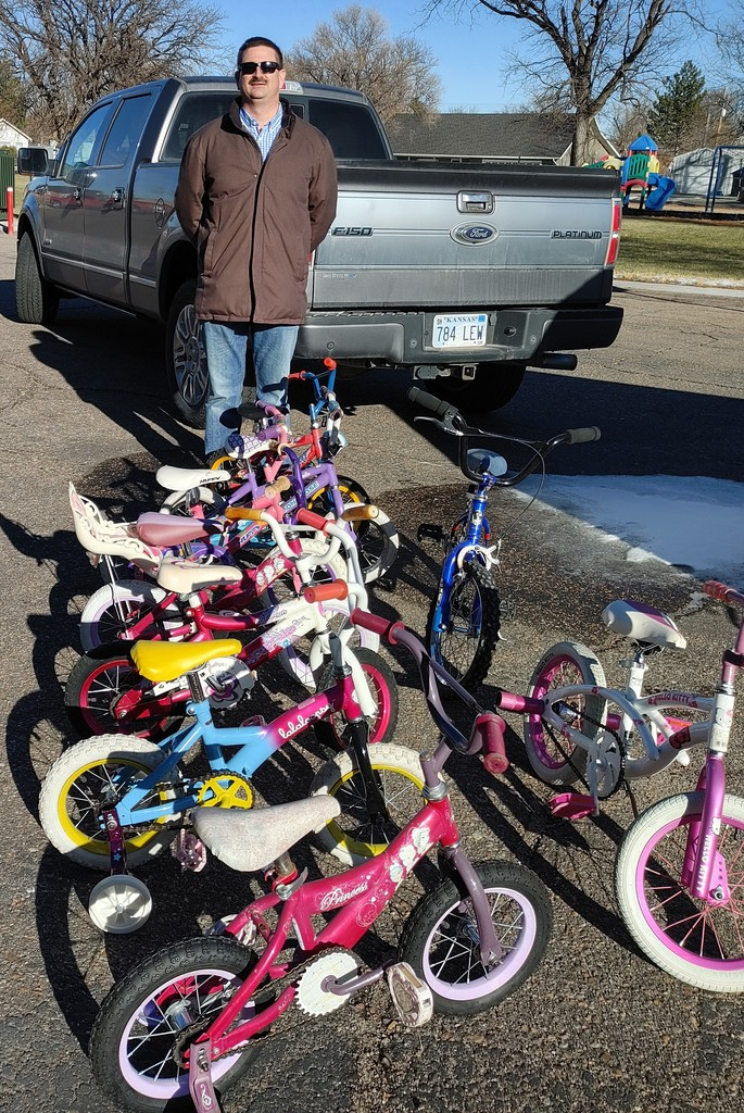 Bicycles donated to Sherman Co. Early Learning Center